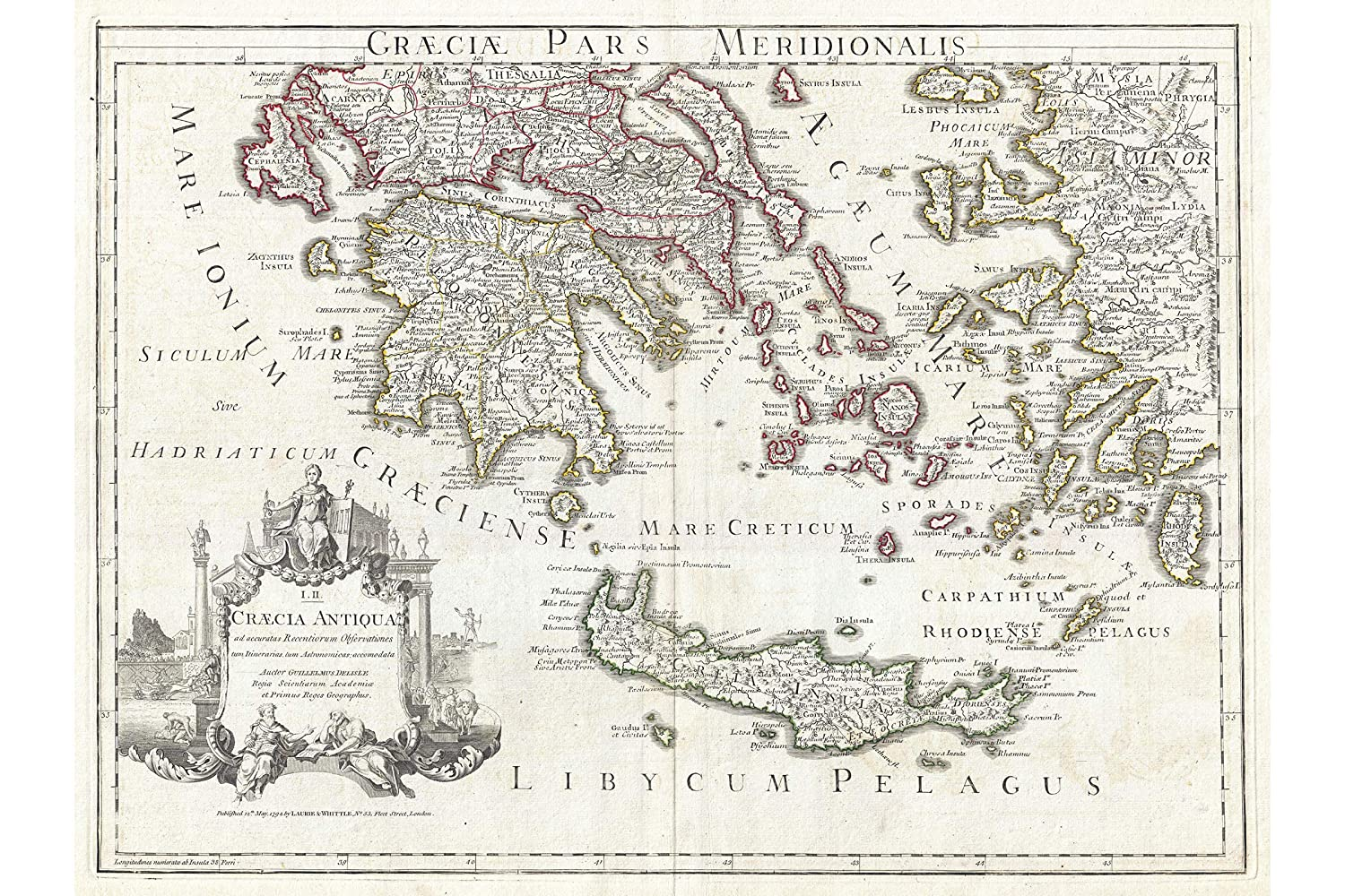 Amazon Com Ancient Greece Map Southern Ancient Greece And