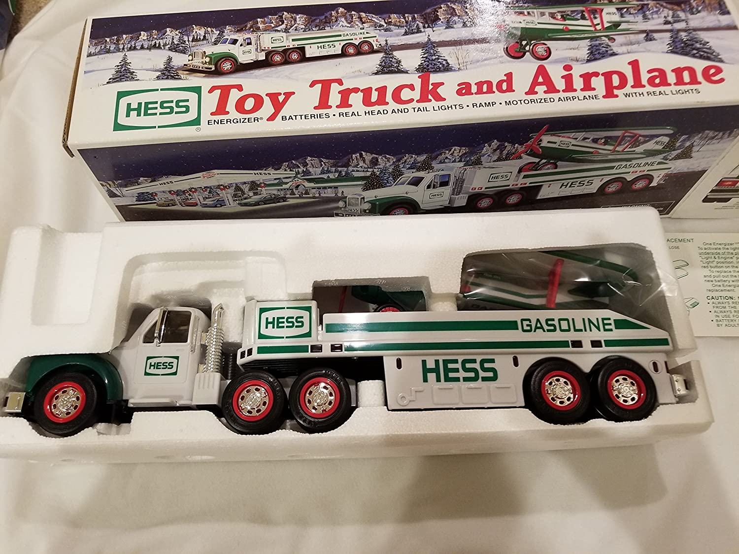 in original box. New 2002 Hess Truck Toy Truck and Airplane