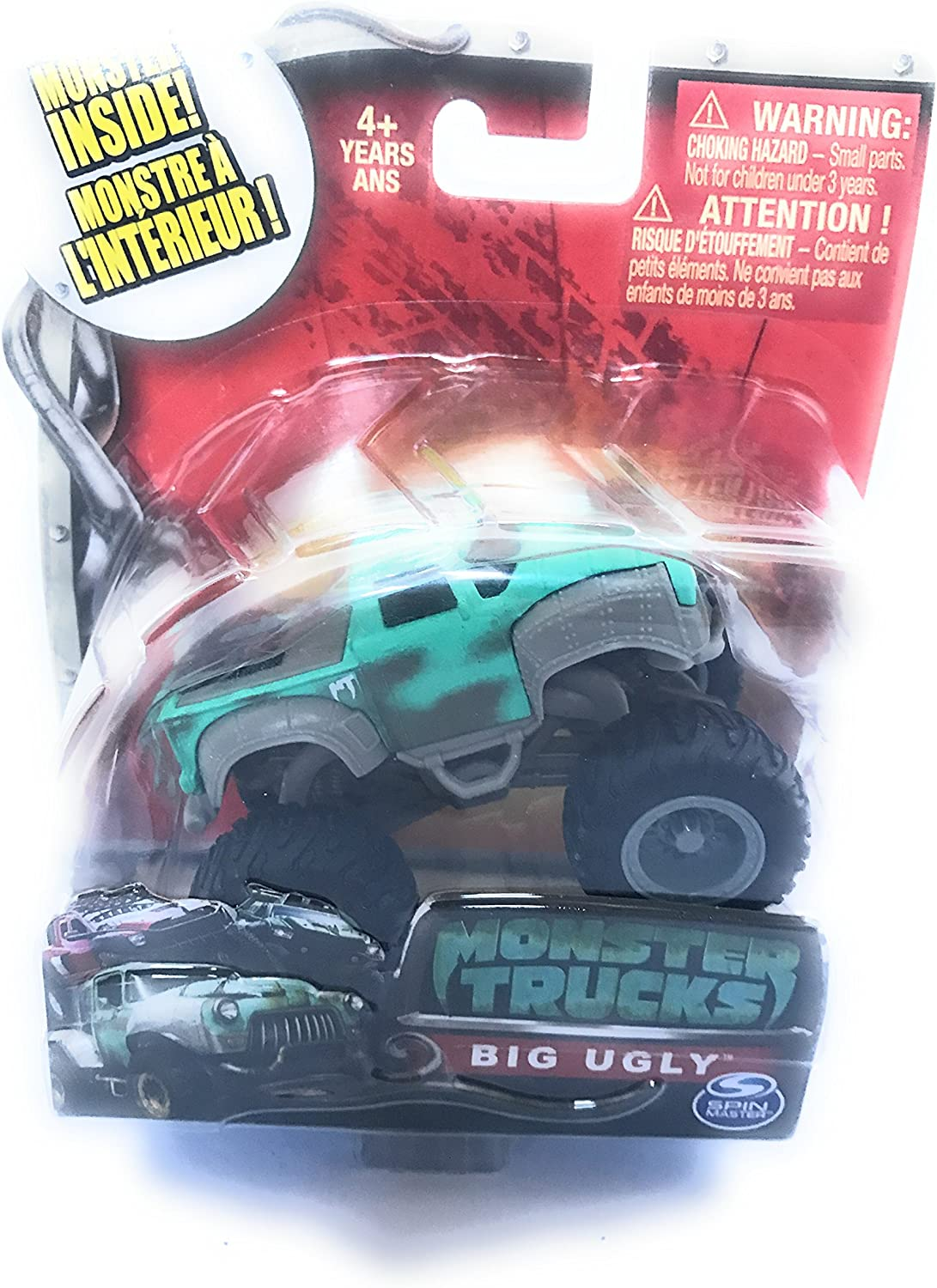 Amazon Com Paramount Pictures New Monster Inside Big Ugly Monster Trucks Toys Games