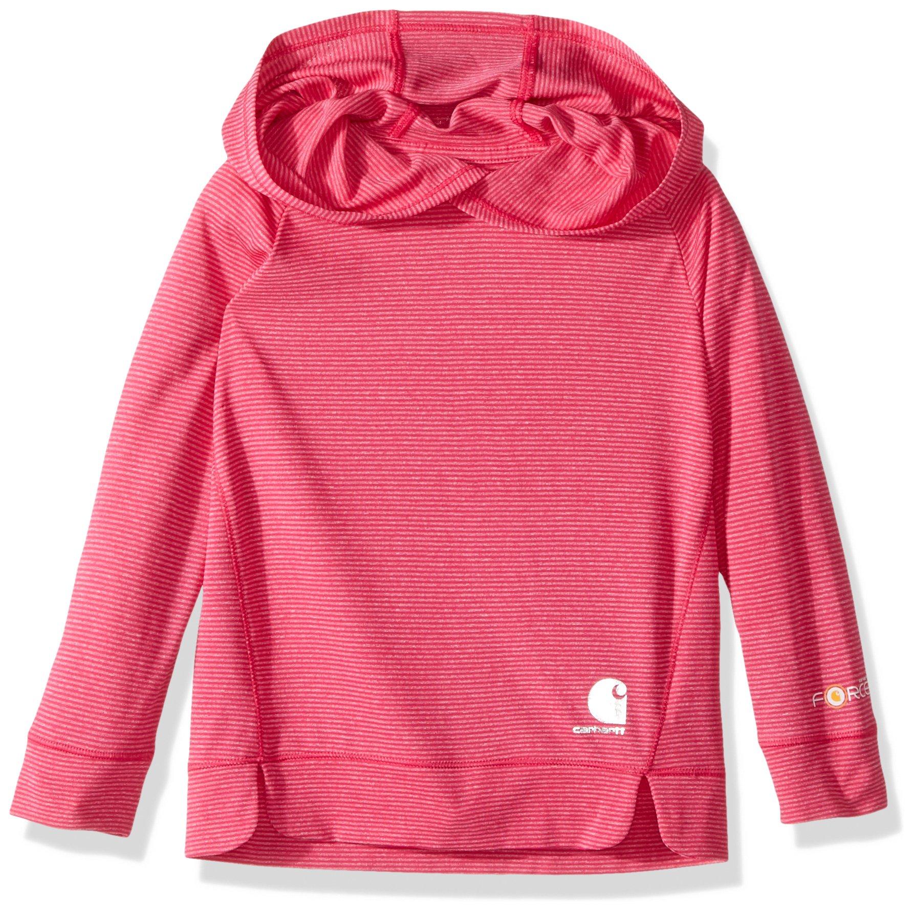 Carhartt Toddler Girls' Long Sleeve Sweatshirt, Force Bright Pink, 2T