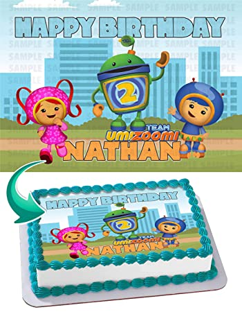 Image Unavailable Not Available For Color Team Umizoomi Birthday Cake Personalized Toppers
