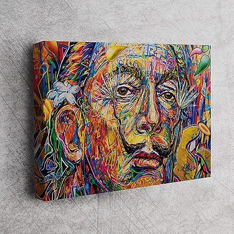 Salvador Dali Yağlı Boya Reprodüksiyon Portre Kanvas