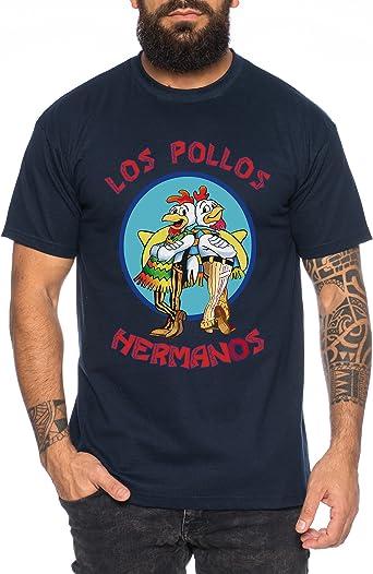 WhyKiki Los Pollos Camiseta de Hombre Hermanos Bad Heisenberg Breaking: Amazon.es: Ropa y accesorios