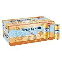 S.Pellegrino Essenza Tangerine & Wild Strawberry Flavored Mineral Water, 11.15 fl...