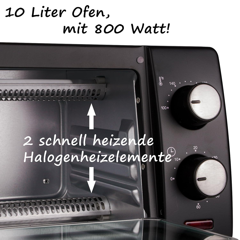 TZS First Austria -10 Liter Minibackofen mit 800 Watt | Unter ...