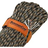 620 LB SurvivorCord | The Original Patented Type III Military 550 Paracord/Parachute Cord with Integrated Fishing Line, Multi-Purpose Wire, and Waterproof Fire Tinder.