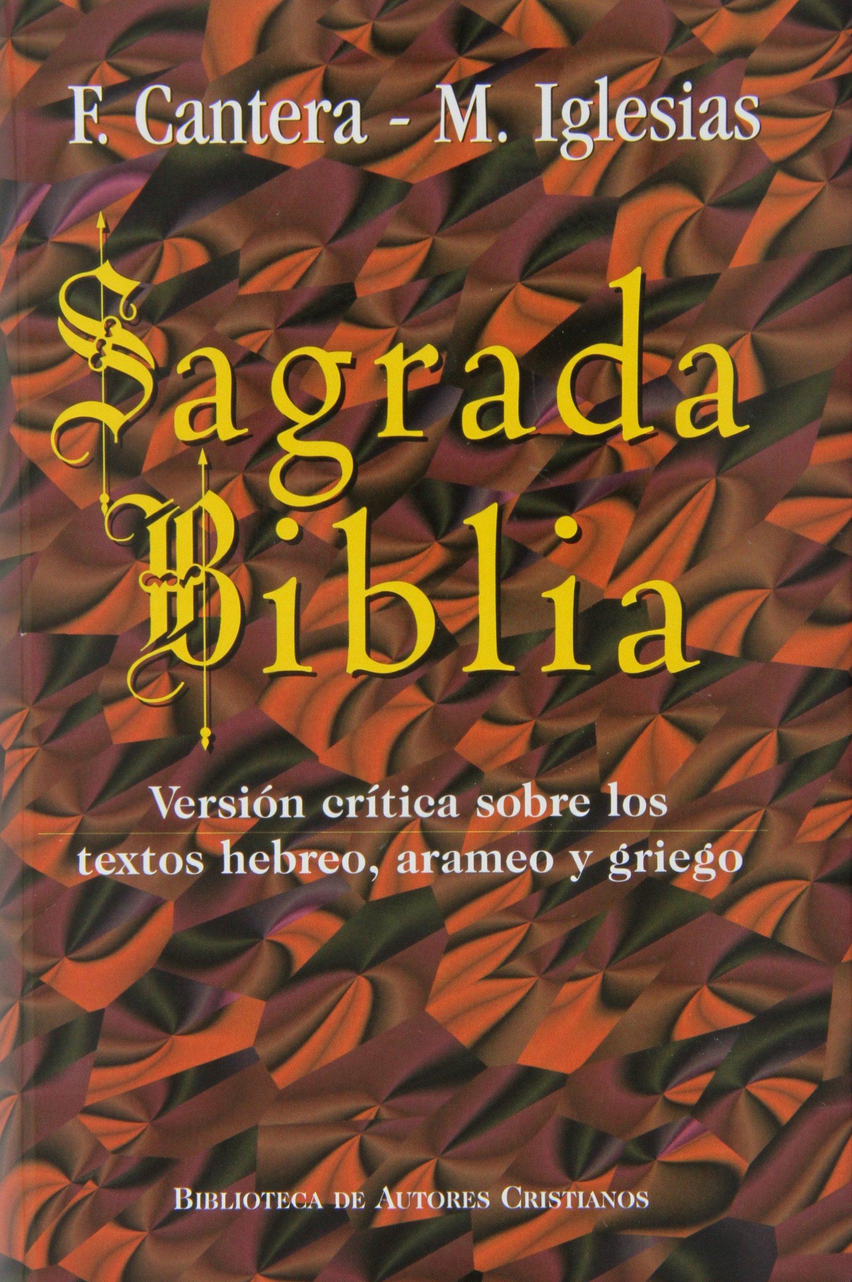 Sagrada Biblia Cantera Iglesias Versi N Cr Tica Sobre Los  # Muebles En Hebreo