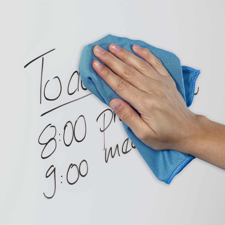 SIGEL GL189 Panno in microfibra Delta 40 x 40 cm per pulire le lavagne magnetiche di vetro blu