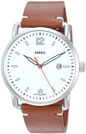 fb12138d2d5 Image Unavailable. Image not available for. Colour  Fossil Analog White  Dial Men s Watch-FS5395