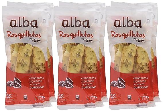Alba - Rosquilletas con pipas - Palitos de pan con semillas de girasol - 70 g - [Pack de 6]: Amazon.es: Alimentación y bebidas