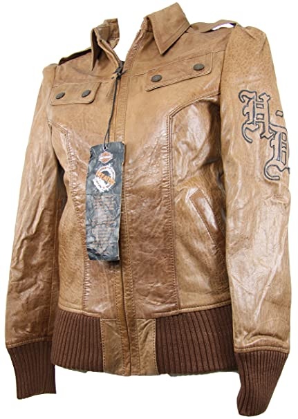 Harley-Davidson - Chaqueta - para mujer Marrón marrón small ...
