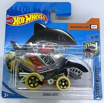 Hot Wheels 2018 Shark Bite Black 3/10 Street Beasts 286/365 (Short Card): Amazon.es: Juguetes y juegos