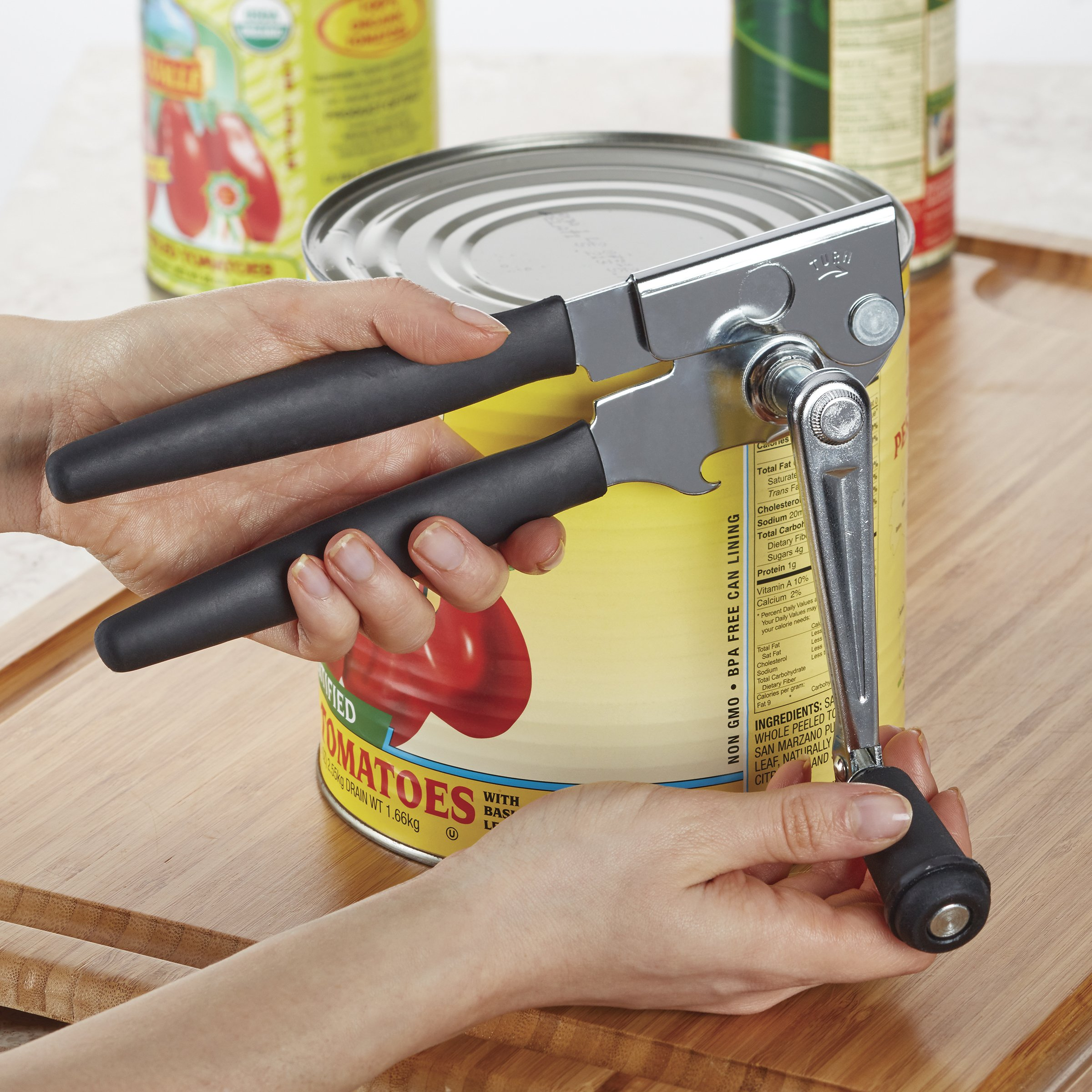 Swing-A-Way 6090 Easy Crank Can Opener, Black by Swing-A-Way