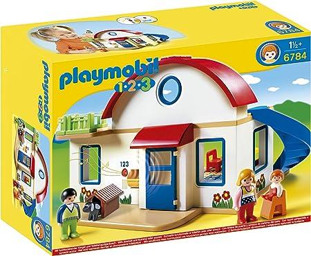 PLAYMOBIL 1.2.3- Suburban Home 1.2.3 casa Moderna, 39.9 x 30.0 x 15.0 (6784): Amazon.es: Juguetes y juegos