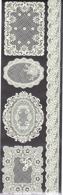 Craftime Enchanted Lace Rub Ons, Ivory White AC0149E