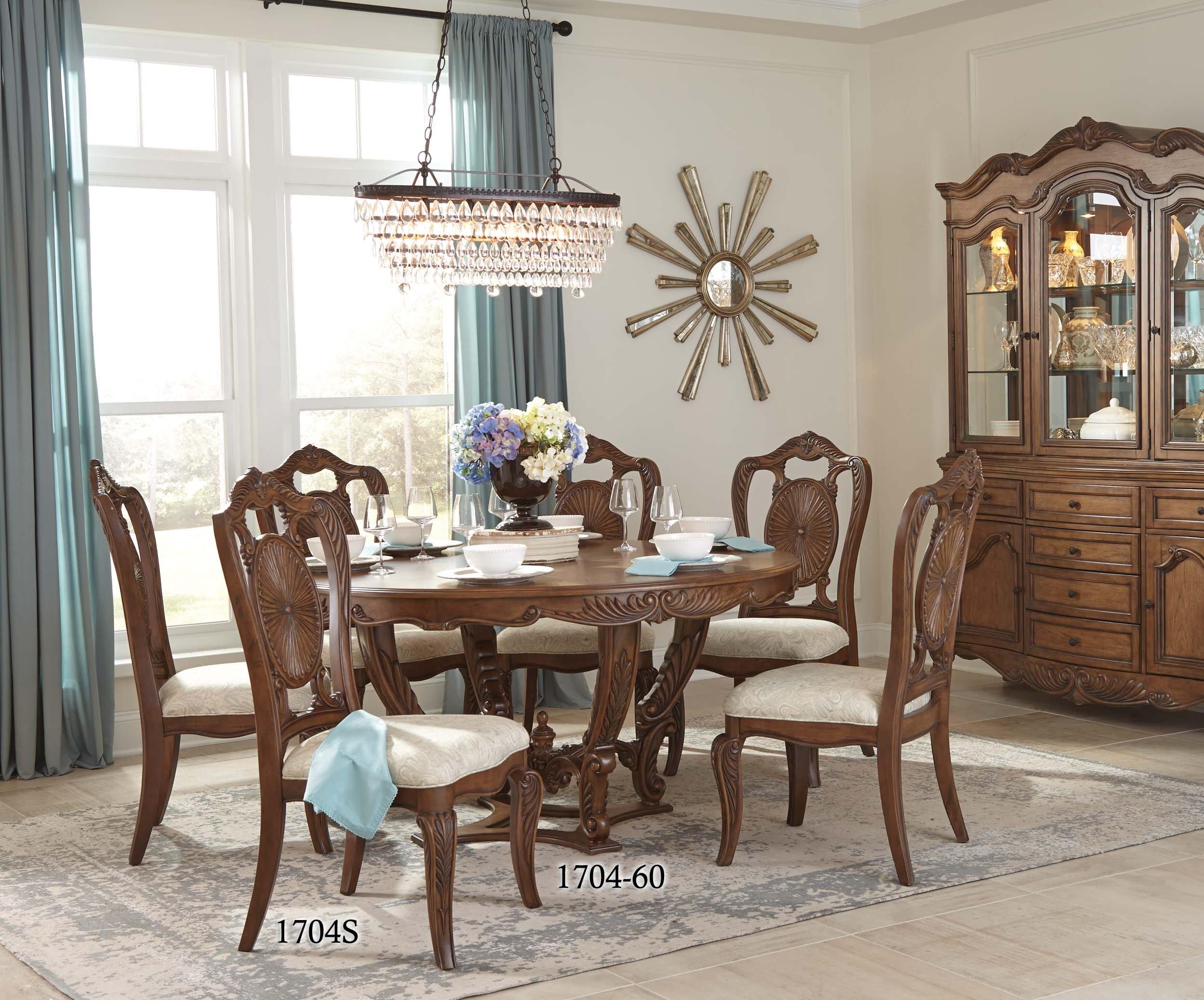 Homelegance Moorewood Park 60'' Round Dining Table, Pecan