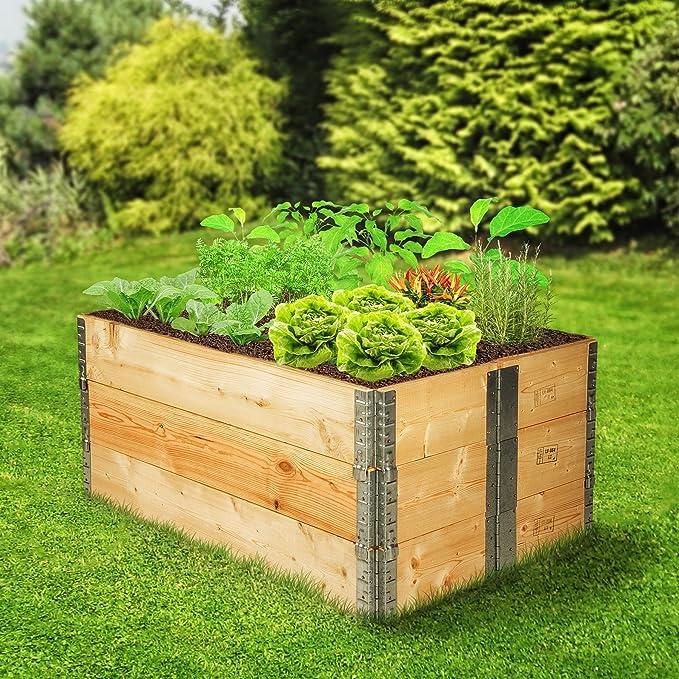 Tectake Cadre Pour Plate Bande Surelevee De Jardin Pliable En Bois