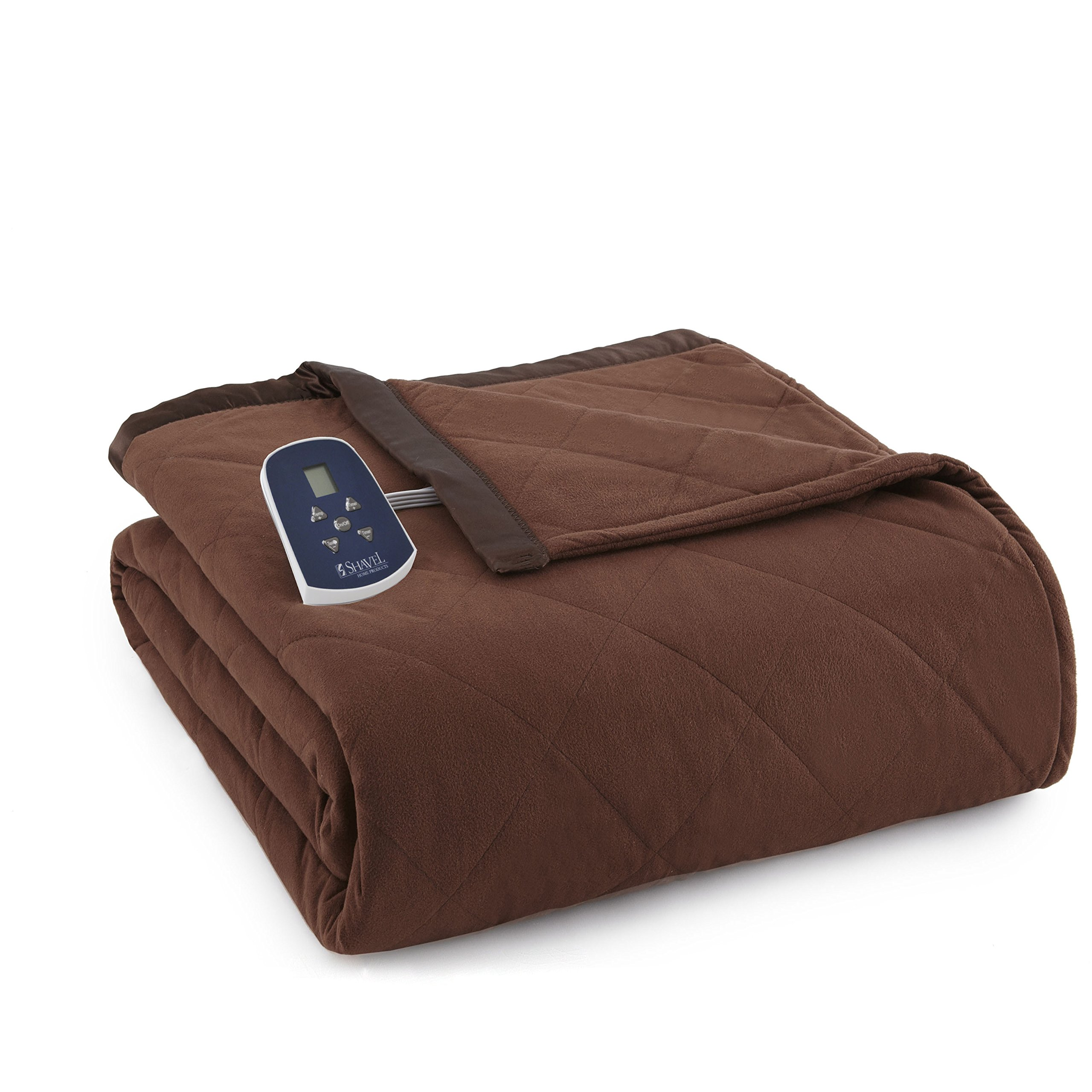 Shavel Home Products Thermee Electric Blanket, Cocoa, Queen by Thermee Micro Flannel