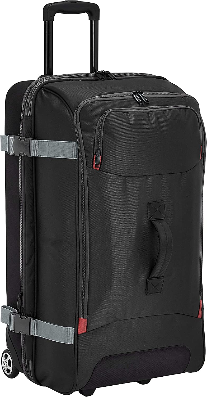 AmazonBasics – Bolsa de viaje Grande con ruedas, Negro