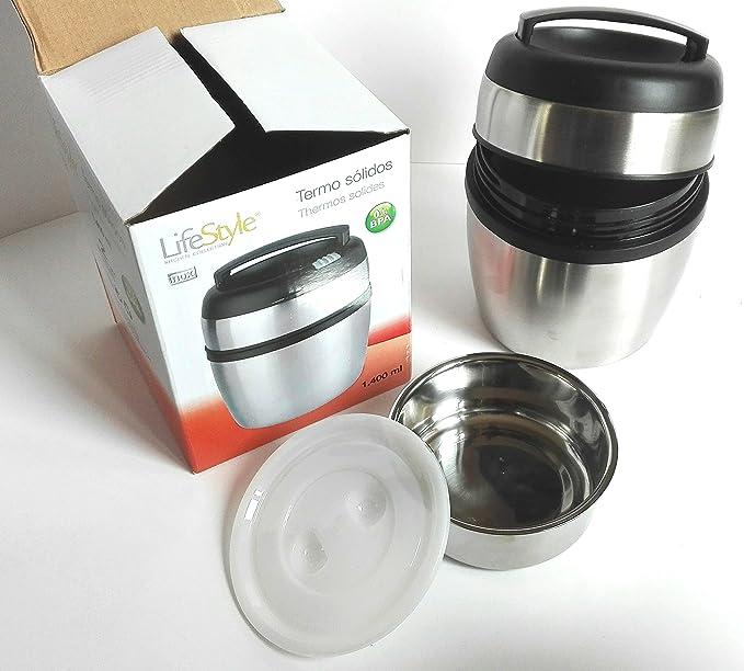 Amazon.com: Life Style Flask for Solid Food inoxydable-1400Ã ...