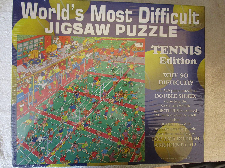B004HUCSTU World's Most Difficult Jigsaw Puzzle- Tennis Edition (529 Pieces) 918ywFmIkZL.SL1500_