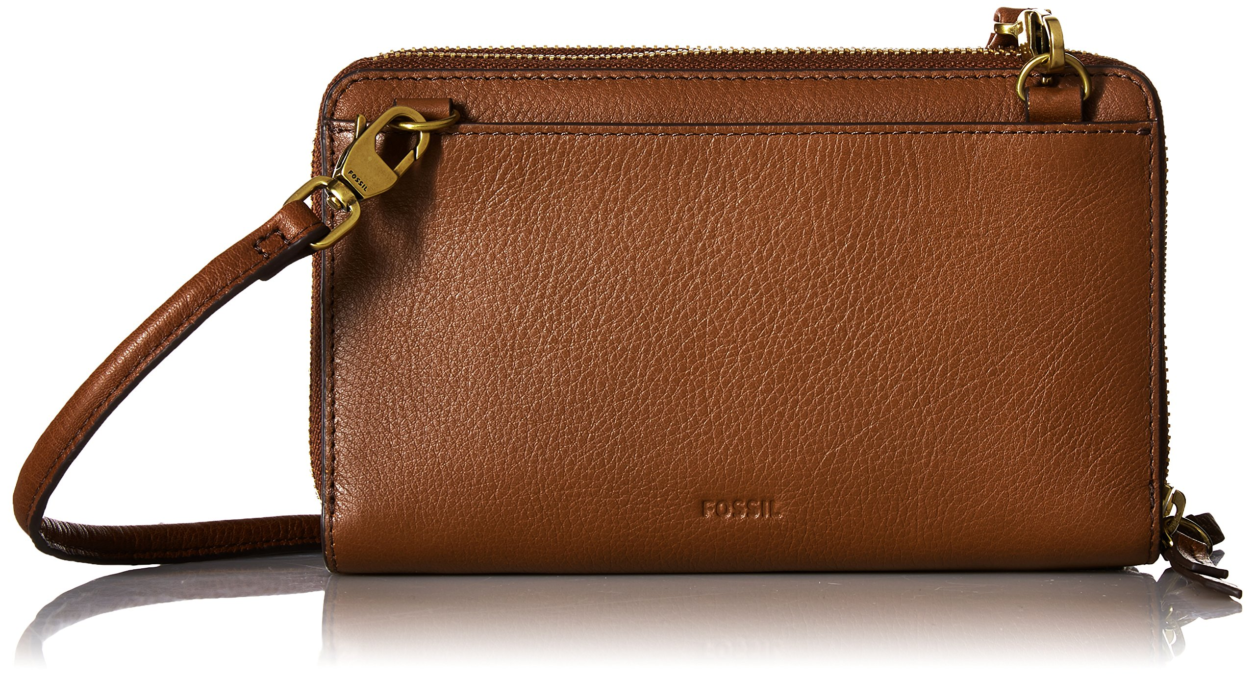 Fossil Raven Wallet Crossbody, Brown
