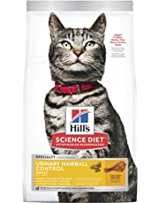 Hill's Science Diet Adult Urinary & Hairball Control Cat Food, Chicken Recipe Dry Cat Food, 1.58kg Bag