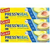 3PK Glad Pressn Seal Plastic Food Wrap Square Foot Roll