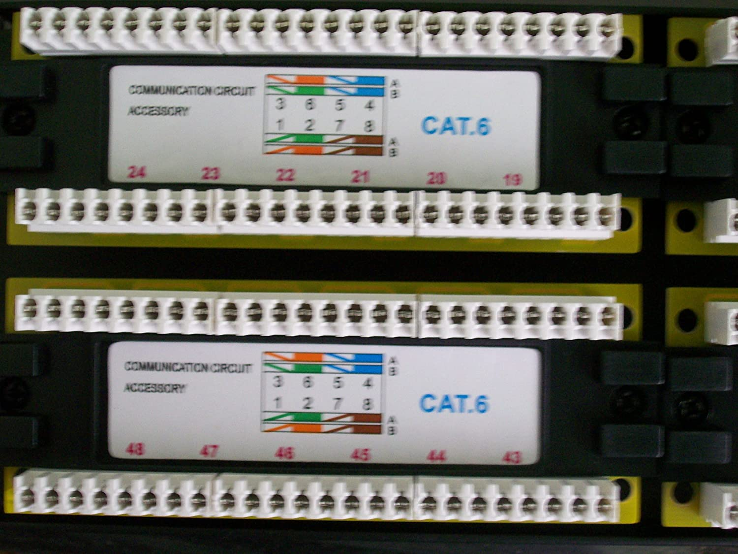 Amazon.com: Tuff Jacks Cat6 48 Port Patch Panel 19 Inches x ... on