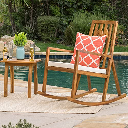 Christopher Knight Home 299256 Noble Outdoor Wood Rocking Chair