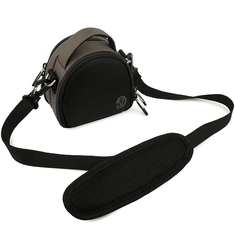 Vangoddy ミニローレルキャリーバッグケース 富士フイルム FinePix XP60 防水デジタルカメラ用 (スチールグレー)   B00J8ZVV8S