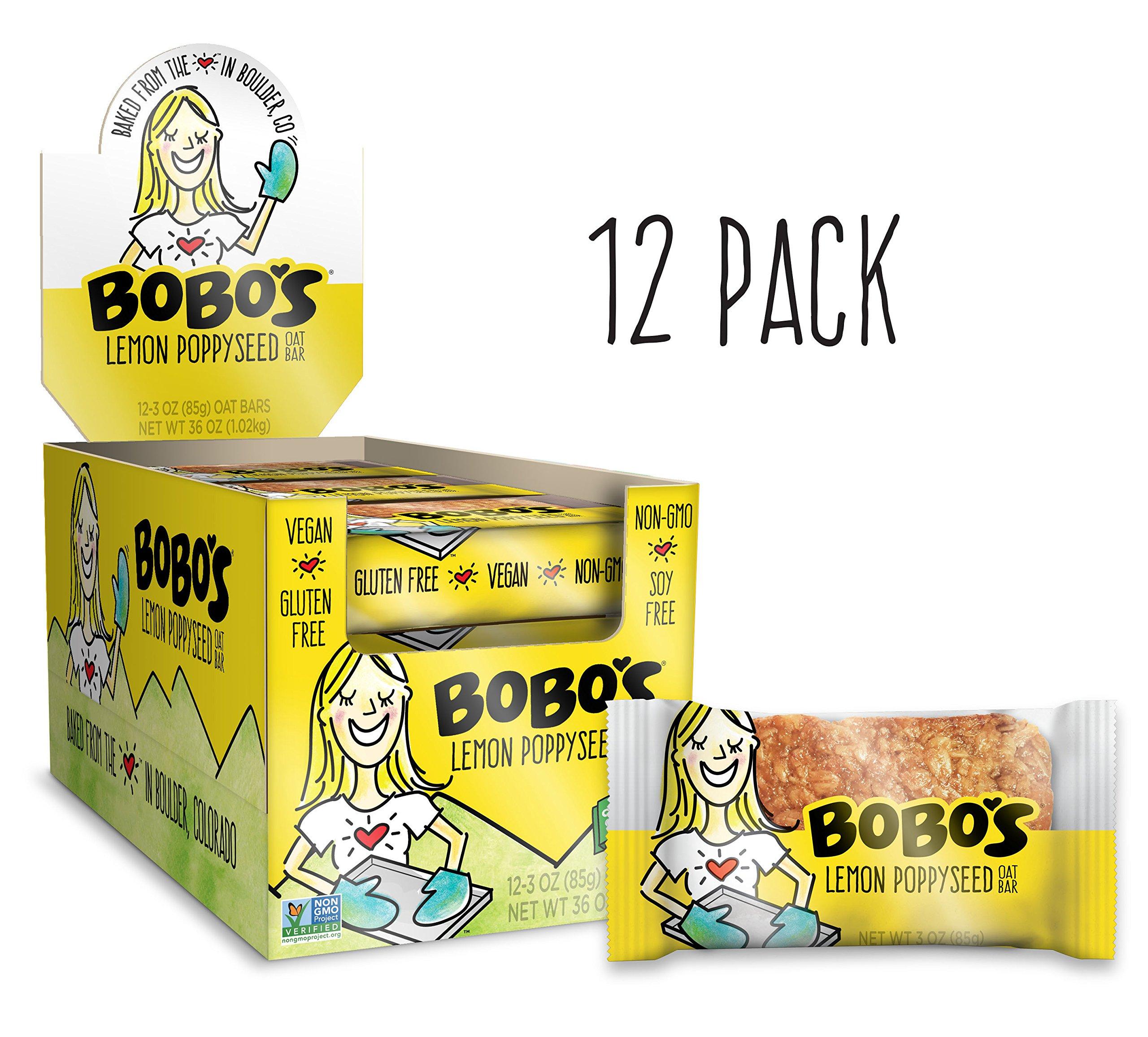 Bobo's Oat Bars All Natural, Gluten Free, Lemon Poppyseed, 3 oz, 12 Piece