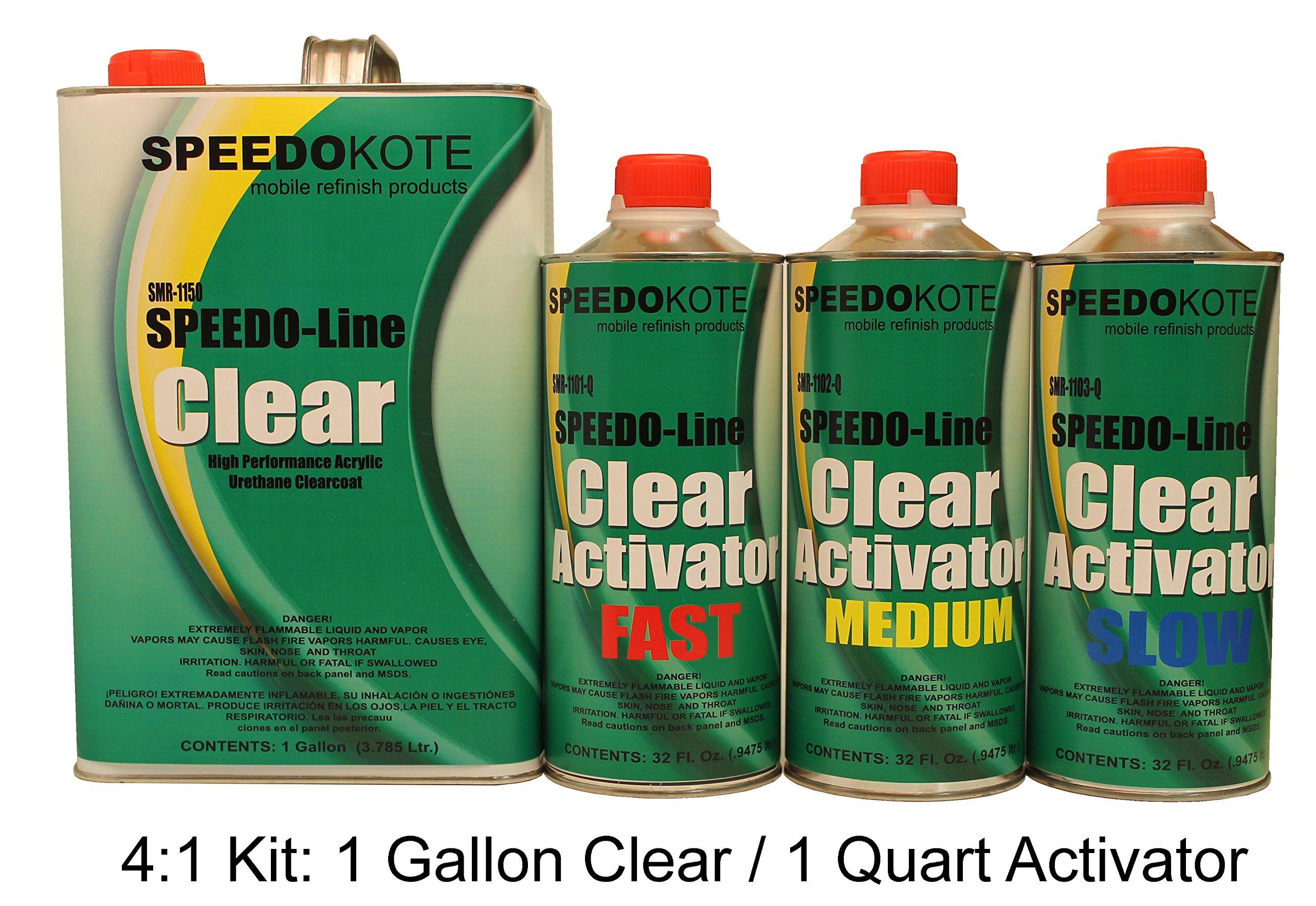 Clear Coat 2K Acrylic Urethane, SMR-1150/1103-Q 4:1 Gallon Clearcoat Slow Kit by Speedokote
