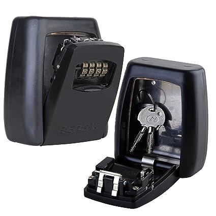 amazon com sepox key lock box wall mount portable key safe with 4