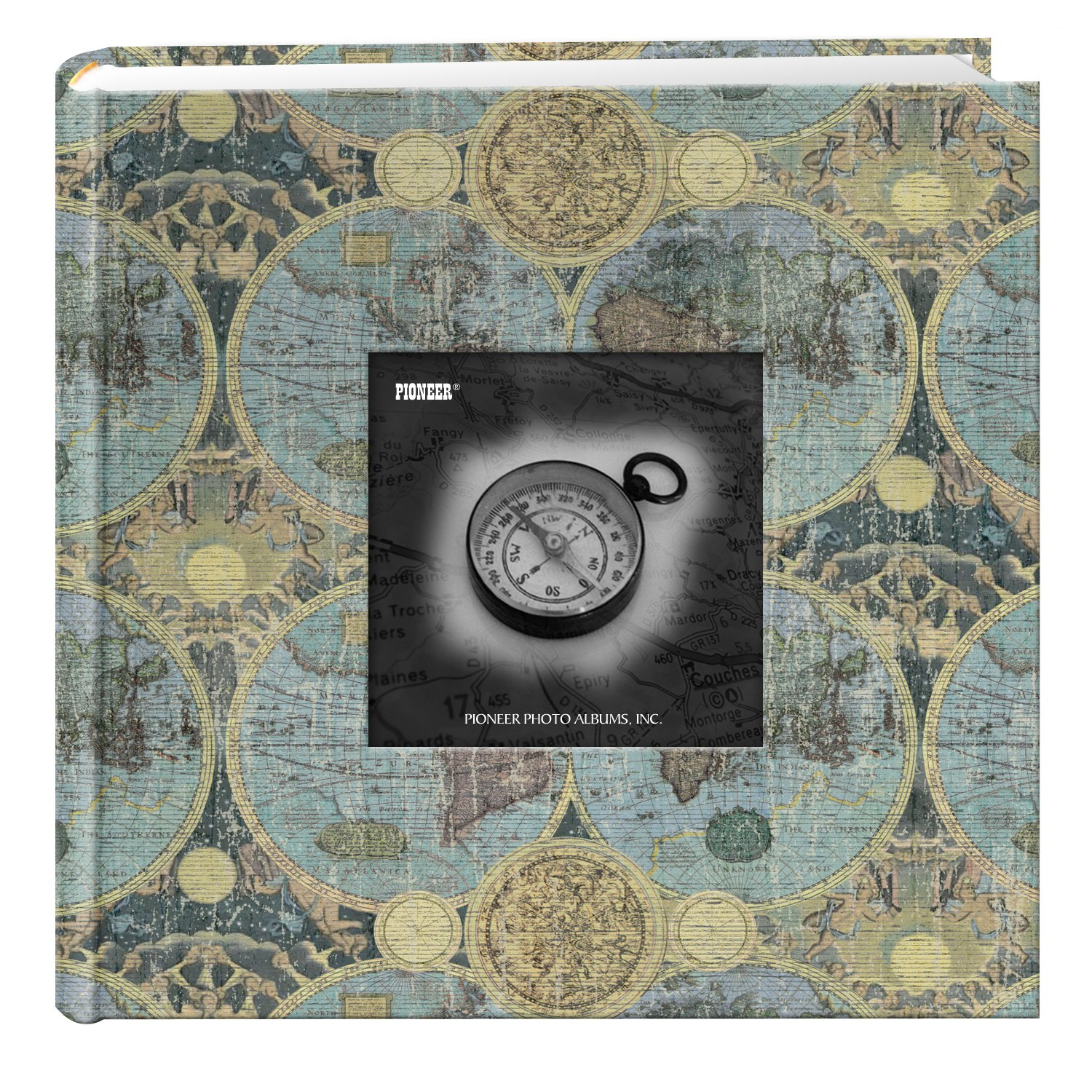 Pioneer Photo Albums DA-200MAP/G 200-Pocket Photo Album with Printed Travel Design Cover, Globes by Pioneer Photo Albums
