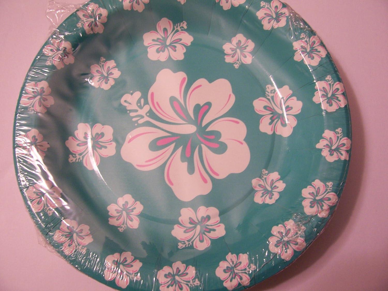 Amazon.com Party Paper Plates ~ Hawaiian Flowers (Set of 10 Plates 7\ ) Toys \u0026 Games & Amazon.com: Party Paper Plates ~ Hawaiian Flowers (Set of 10 Plates ...