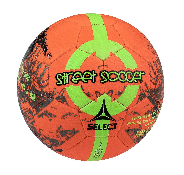 Select Street - Balón de fútbol, Color Naranja y Verde, tamaño ...