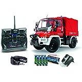 Carson 500707109–1: 12Unimog Maquette de camion de pompiers 100% RTR
