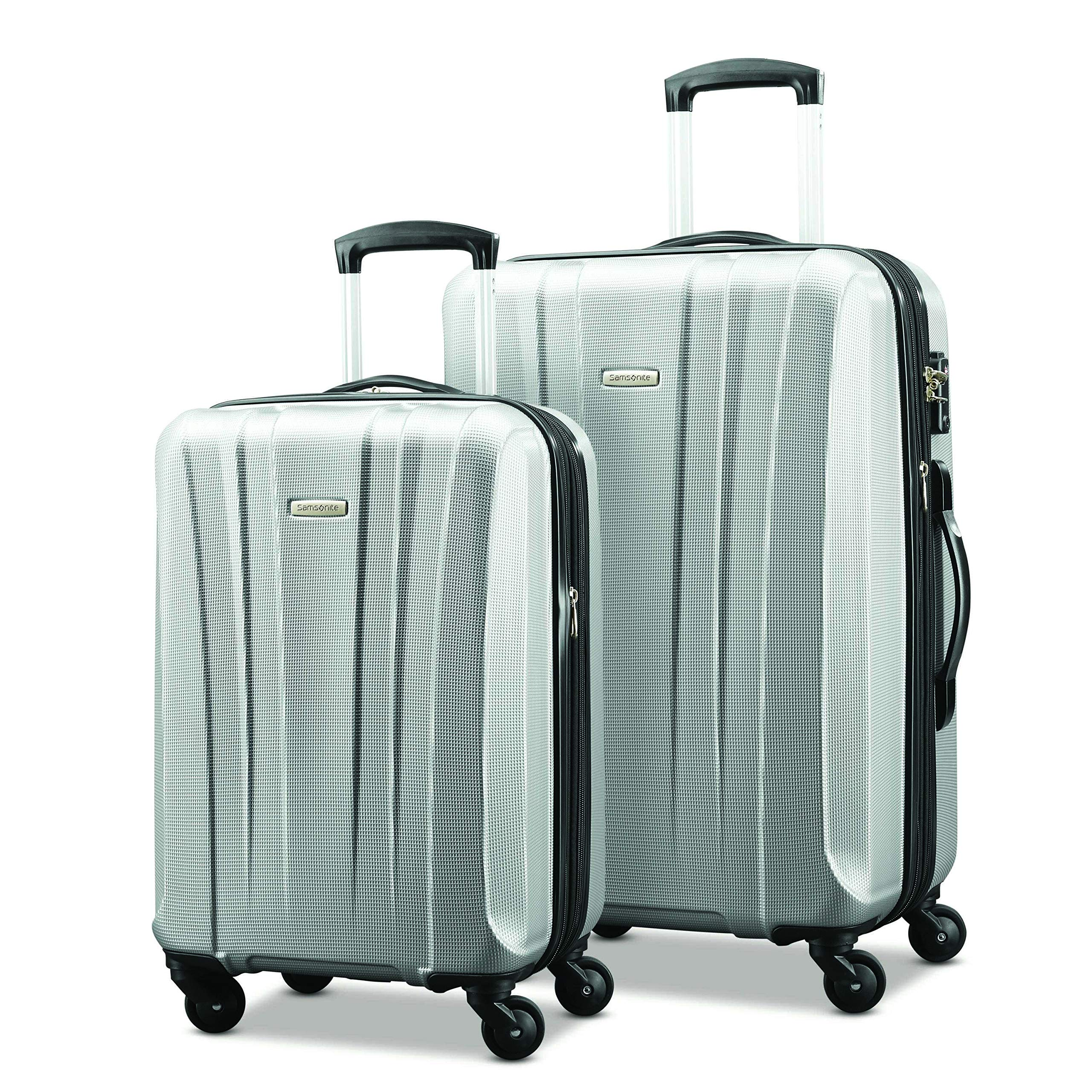 Samsonite Pulse Dlx Lightweight 2 Piece Hardside Set (20''/28''), Silver, Exclusive to Amazon