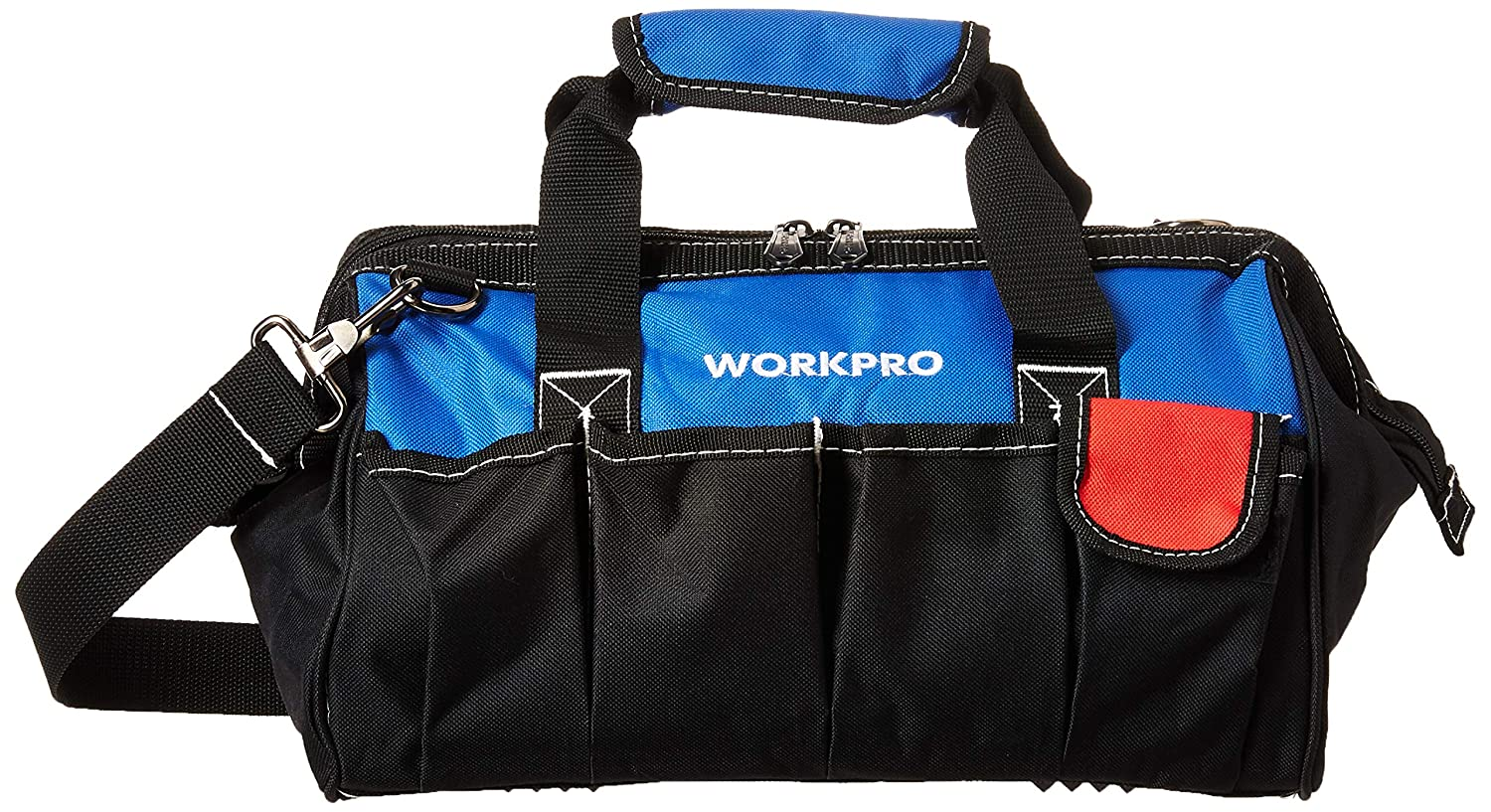 WORKPRO W081021A Tool Storage Bag Close Top Wide Mouth 14 inch