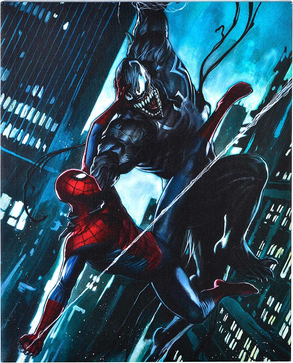 """Edge Home Products Marvel Printed Canvas, 10"""" x 13.5"""", Spider-Man"""