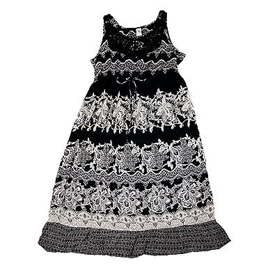 bed961b0d6 Bila Womens Crochet Lace-Neck Maxi Dress Small Black at Amazon Women's  Clothing store: