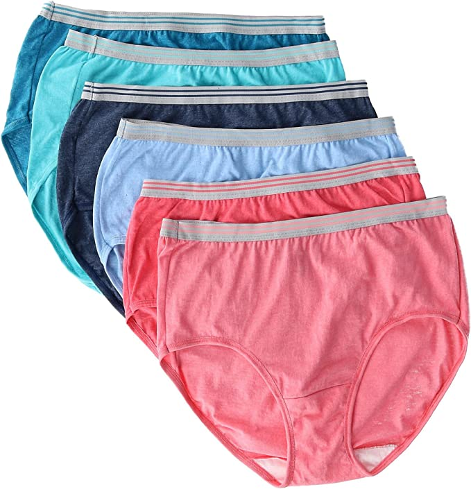 Fruit of the Loom Heather Breves Bragas Calzoncillos para Mujer 7 ...