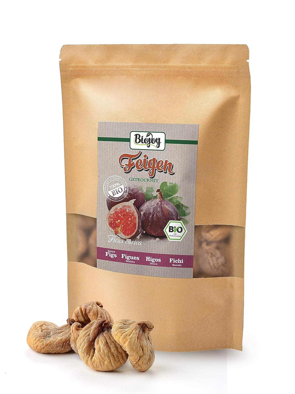 Higos secos BÍO | 100% higos sin conservantes sulfurosos y no endulzados | frutas secas sin azúcar y conservantes | completamente naturales y sin ...
