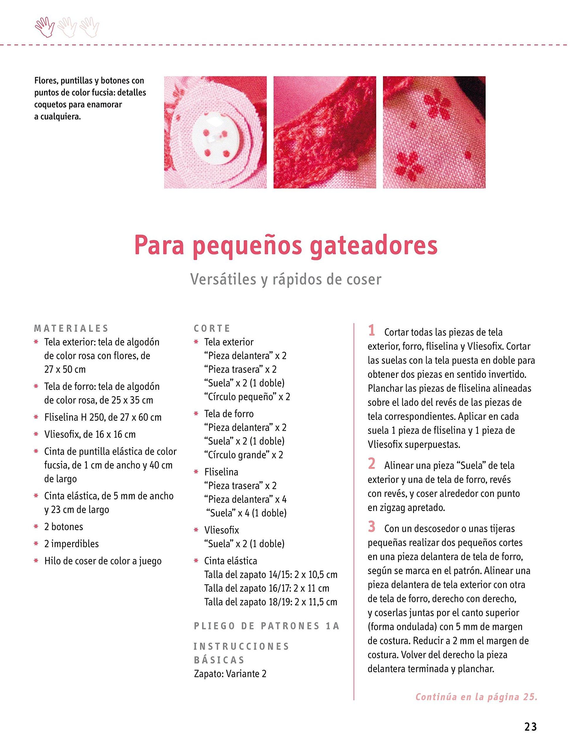 Crea Con Patrones. Patucos De Tela Para Bebés - Número 3: Amazon.es ...