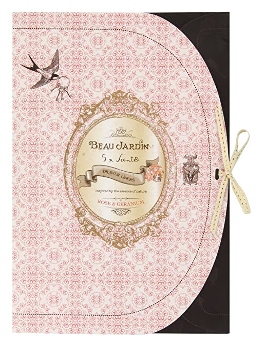 Beau Jardin Rose and Geranium Scented Drawer Liners: Amazon.co.uk ...