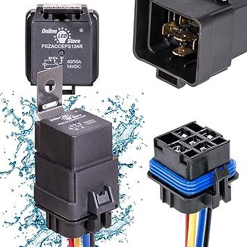 Amazoncom OLS 4030 Amp Waterproof Relay Switch Harness Set - Heavy Duty 5 Pin Relay