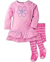 Gerber Baby Girls' Micro Fleece Dress With Tights