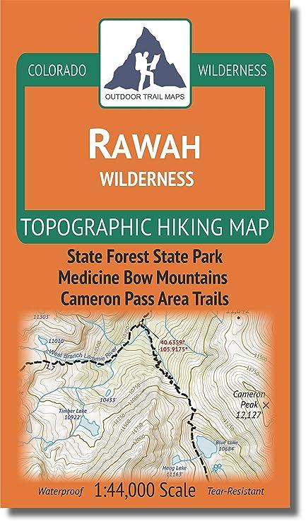 Amazoncom Rawah Wilderness Colorado Topographic Hiking Map - Topographic hiking maps