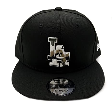 670bb65cb74033 New Era Los Angeles Dodgers 9Fifty Army Camo Trim Adjustable Snapback Hat